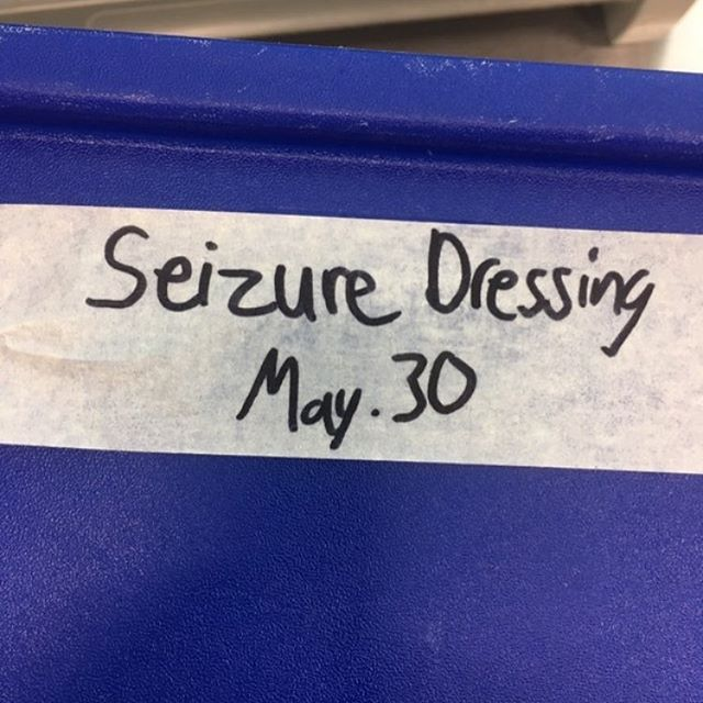 (Caesar dressing) Gonna pass on this salad, thanks. 😮Thank you, @jamiestriha for the pic!!! #kitchentape #truecooks #cheflife